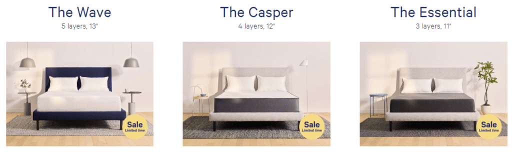 Three Casper Sleep memory foam mattress review