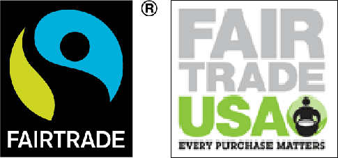 Fairtrade International and Fair Trade USA Logos