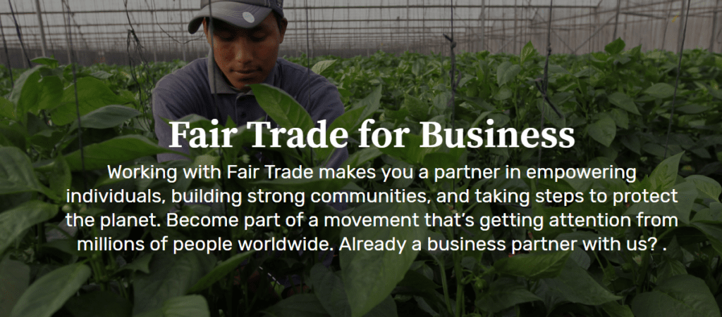 For Business - Fair Trade Certified