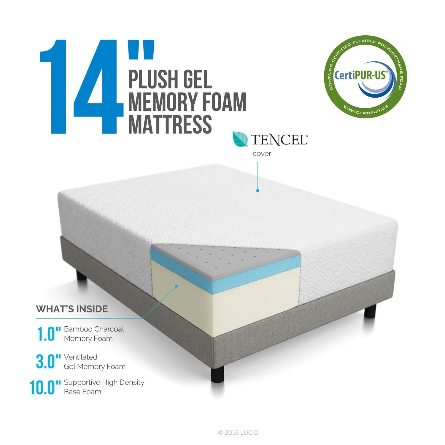 14 Plushcorner Cut Memory Foam Mattress Org