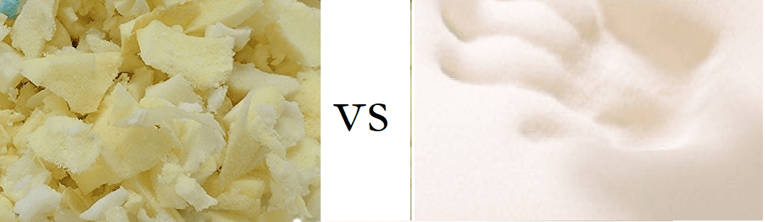 Shredded vs. 1-Piece Memory Foam